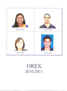 2010-2011 OREX MEMBERS
